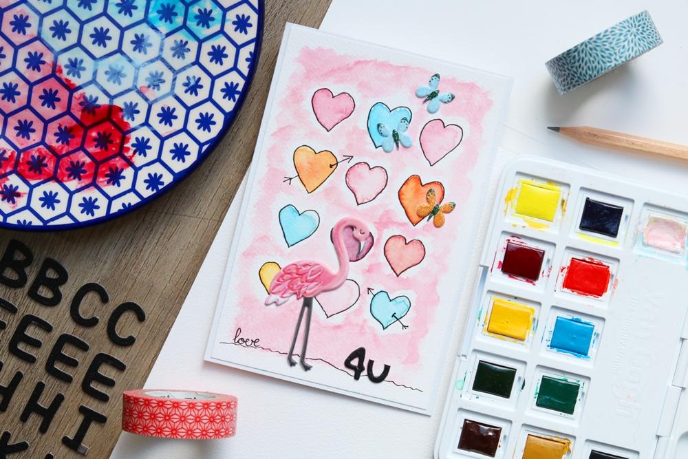 kaarten schilderen met aquarelverf